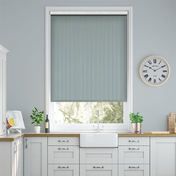 Tiger Stripe Indigo Roller Blind