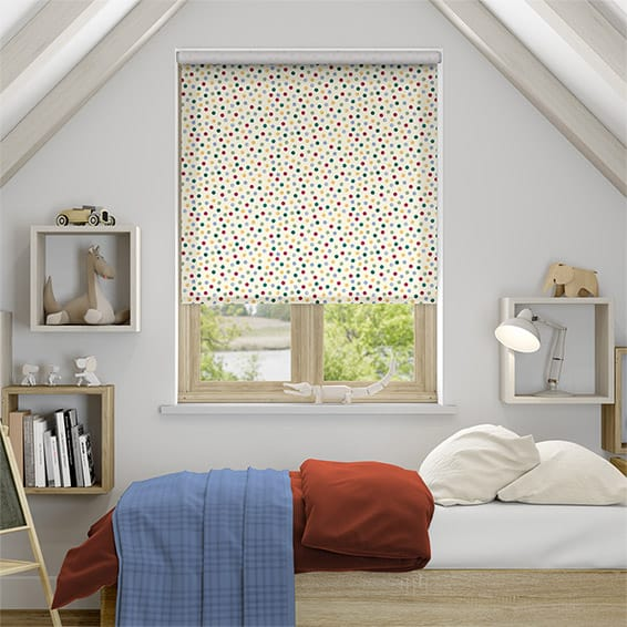 Tight Polka Dot Multi Roller Blind