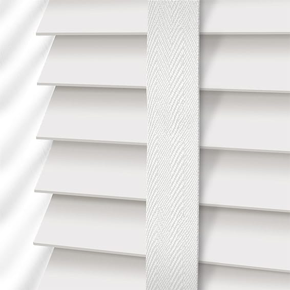 White Blinds 2go White Linen Taped Faux Wood Blinds 2go