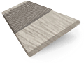 Truffle Grey & Putty - 50mm Slat slat image
