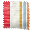 Truro Stripe Candy Red Roman Blind slat image
