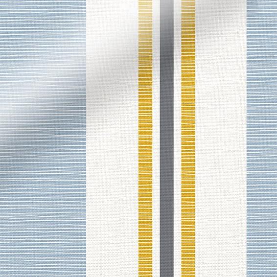 Truro Stripe Coastal Blue Roman Blind