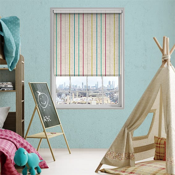 Choices Twill Stripe Linen Fiesta Roller Blind
