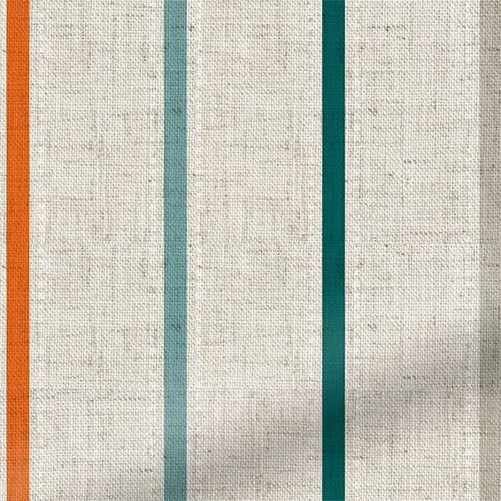 Twill Stripe Linen Mediterranean Roman Blind