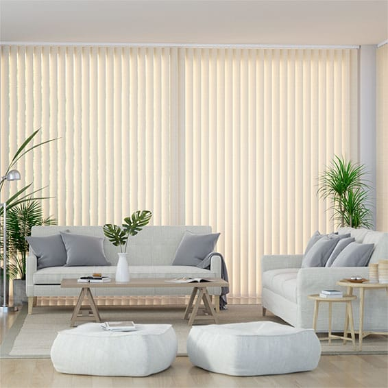 Valencia French Cream Vertical Blind