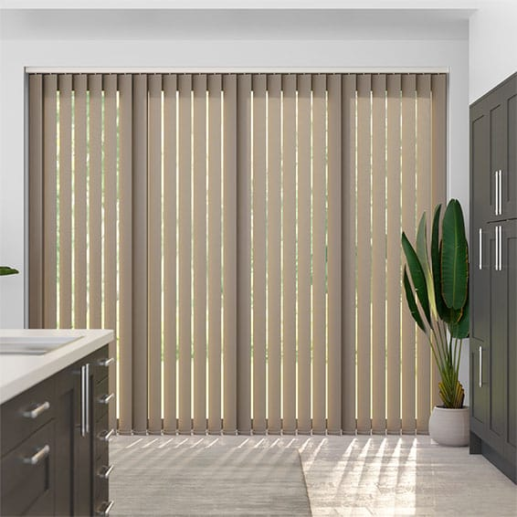 Valencia Grey Taupe Vertical Blind