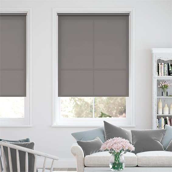 Valencia Simplicity Neutral Grey Roller Blind