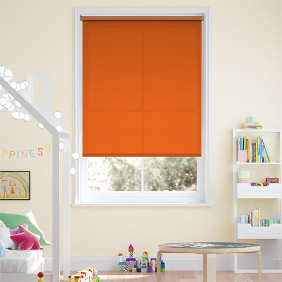 Valencia Orange Embers Roller Blind