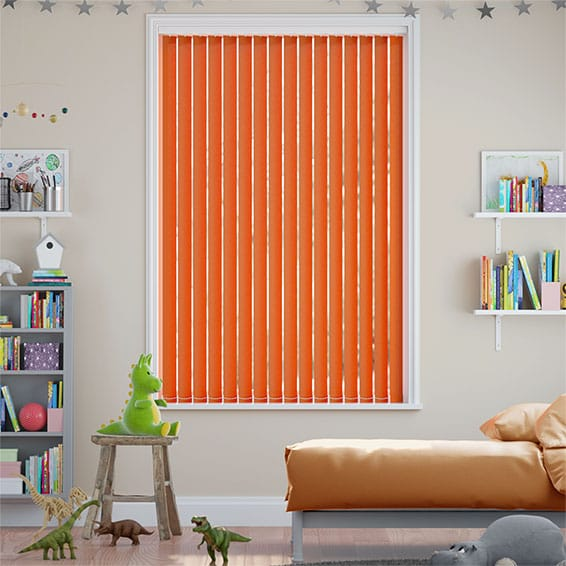 Valencia Orange Embers Vertical Blind