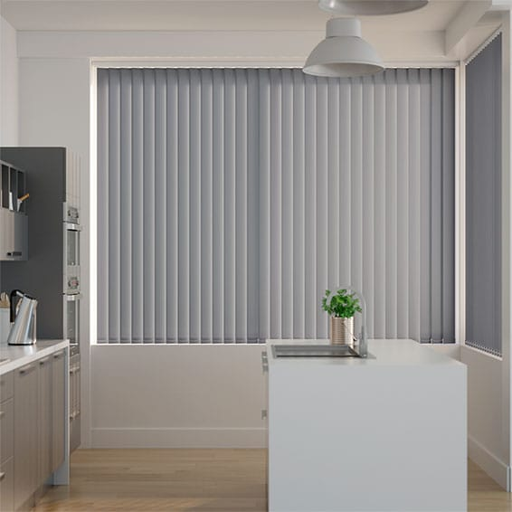 Valencia Seaside Grey Vertical Blind