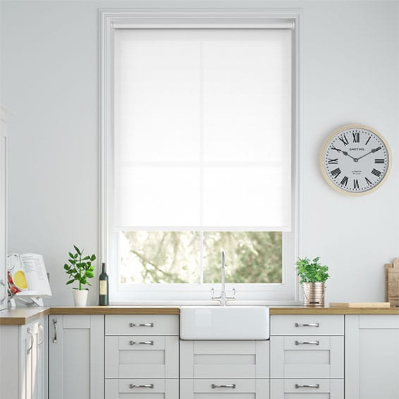 Valencia Simplicity Lilywhite Roller Blind