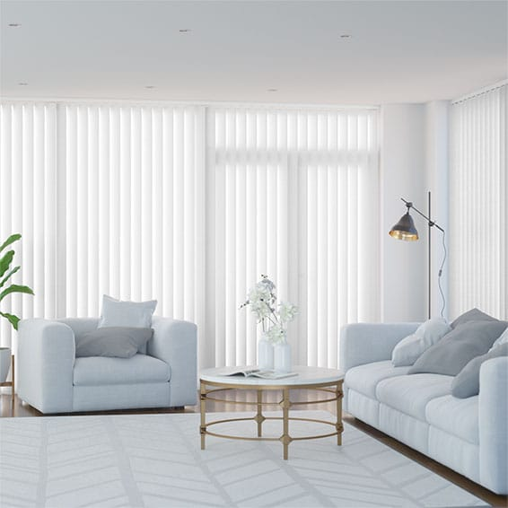 Valencia Simplicity Lilywhite Vertical Blind