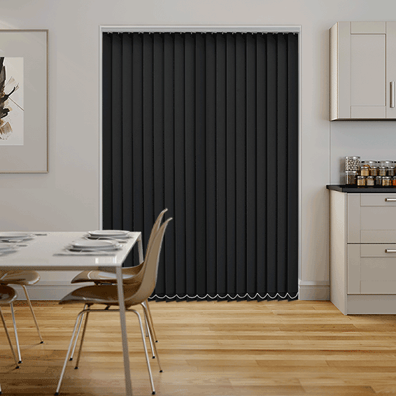Valencia Simplicity Midnight Black Vertical Blind