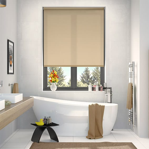 Valencia Simplicity Straw Roller Blind