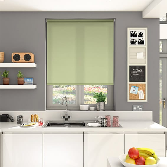 Valencia Soft Green Roller Blind