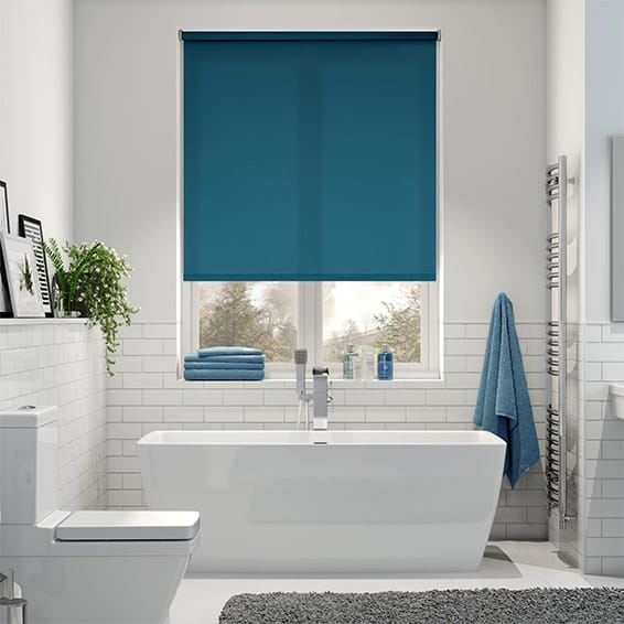duck roman egg blinds blue blind woven itm sizes lined blackout ebay plain