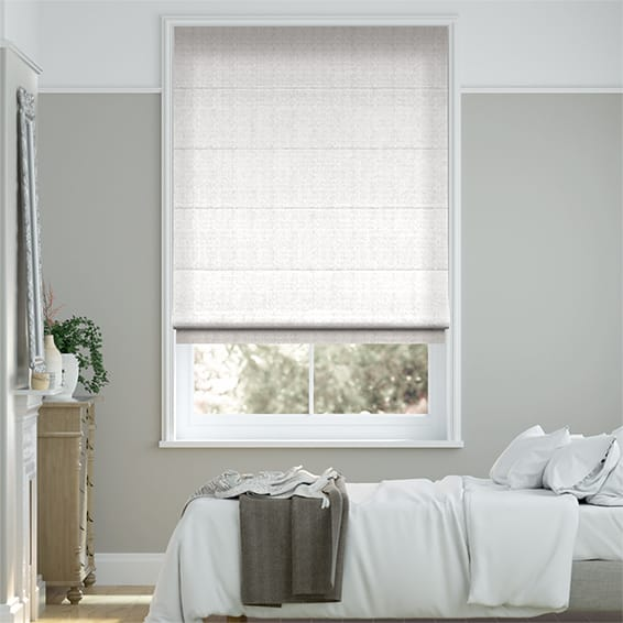 Velvet Pure White Roman Blind New Roman Blinds Bedroom Collection