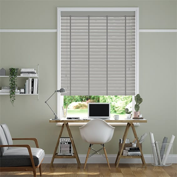 Vermont Cedar Grey & Paloma Wooden Blind - 50mm Slat