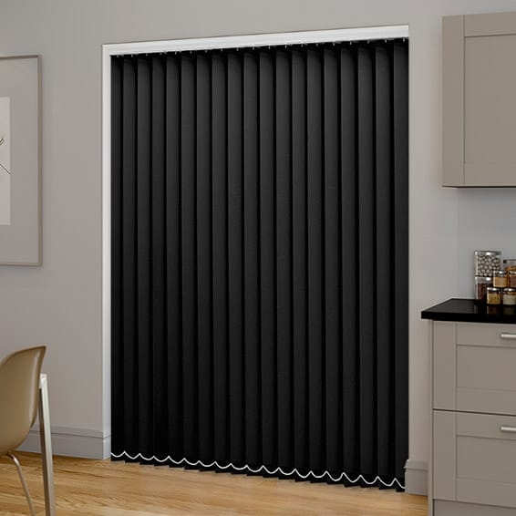 Black Pvc Blackout Vertical Blind