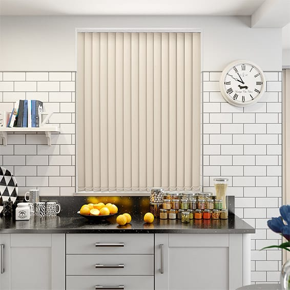 Fawn PVC Blackout Vertical Blind