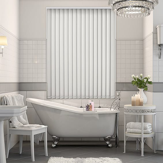 Grey PVC Blackout Vertical Blind