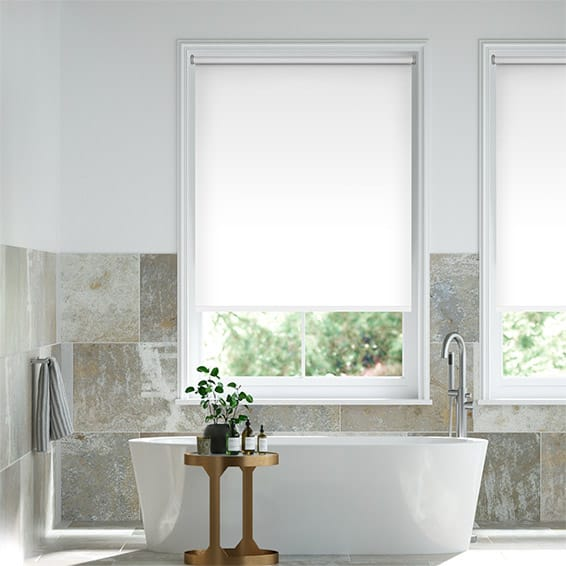 Voyage Blackout Ice White Roller Blind