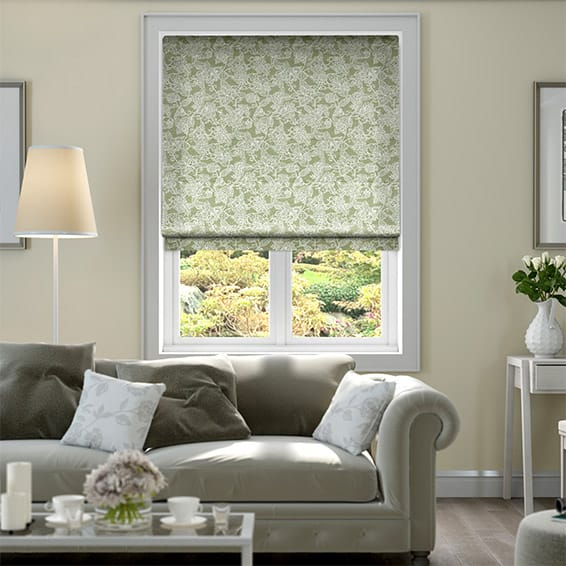 Washwood Sage Roman Blind