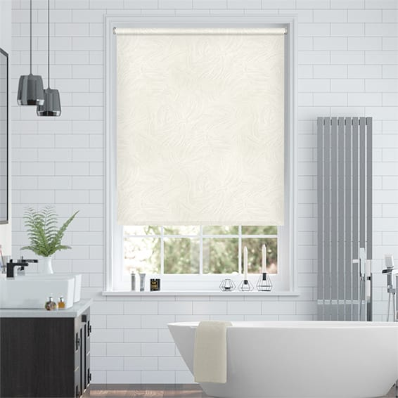 Waves Cream Roller Blind
