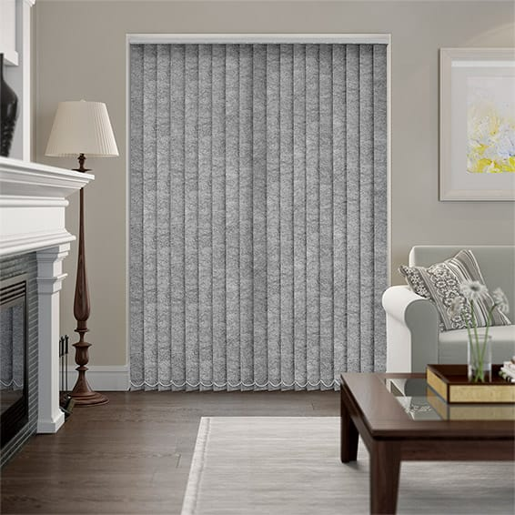 Welwyn Mottled Grey Vertical Blind
