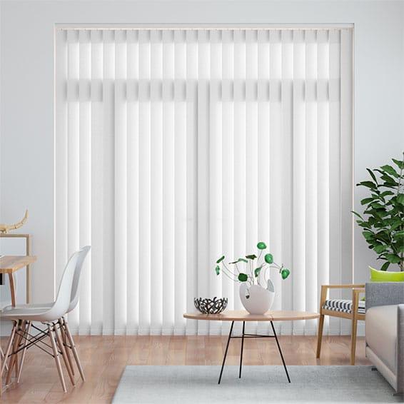 Cheap Vertical Window Blinds.Welwyn White Vertical Blind