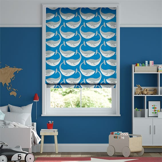 Whale of a Time Ocean Roman Blind