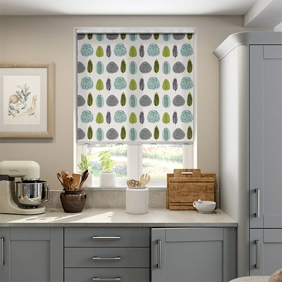Wildleaf Spring Green Roller Blind
