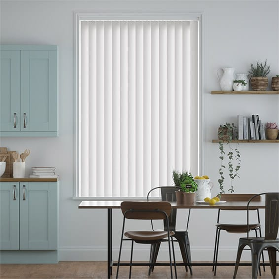 Williamsburg Frost White Vertical Blind