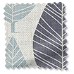 Winter Leaf Linen Gentle Blue Roman Blind slat image