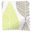 Winter Leaf Spring Green Roman Blind slat image