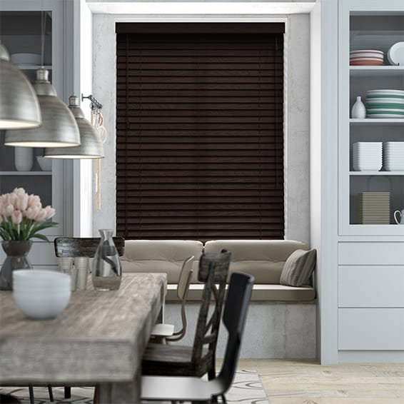 Mocha Wooden Blind - 50mm Slat