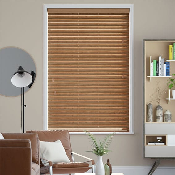 English Oak Wooden Blind - 50mm Slat