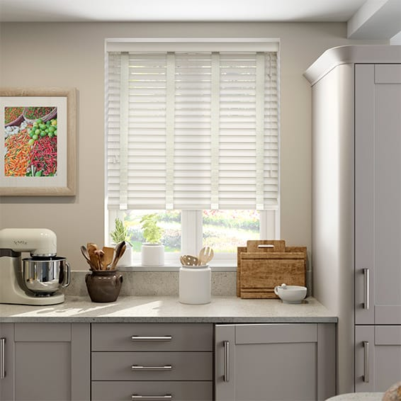 kitchen blinds ideas uk cottage amp canvas faux wood blind 50mm slat 19192