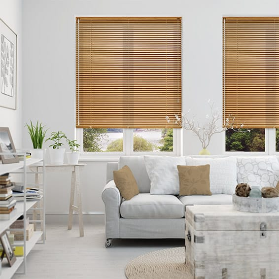 Woodgrain Honey Oak Venetian Blind - 25mm Slat