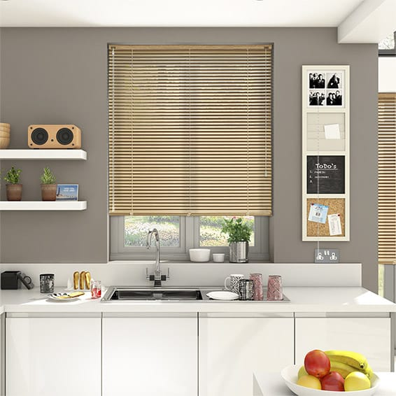 Woodgrain Oak Venetian Blind - 25mm Slat
