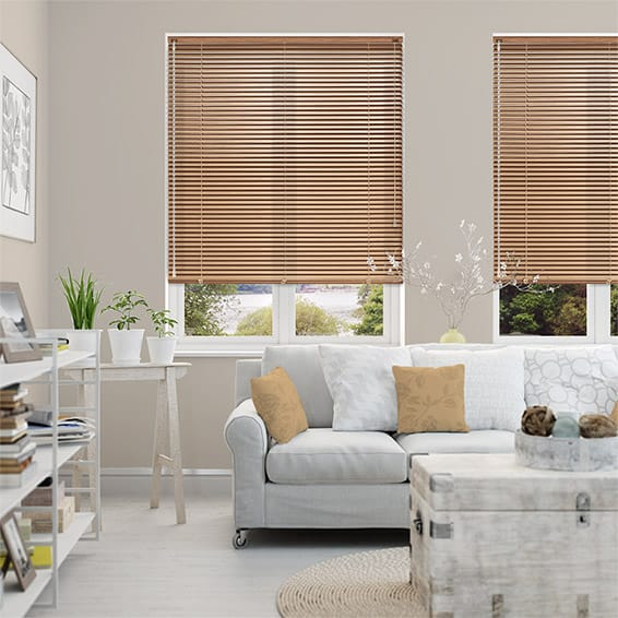 Woodgrain Warm Oak Venetian Blind - 25mm Slat